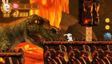 OBR.: Rabbid s dinosaurem v pozadí