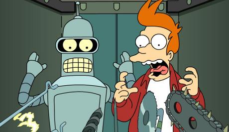 FOTO: Bender a Fry, hlavní postavy seriálu Futurama
