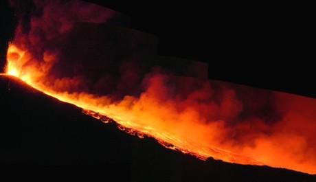 FOTO: Erupce Etny 30.7. 2011