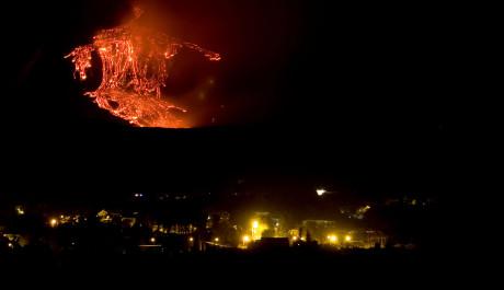 FOTO: Lávové pole po erupci 30.7. 2011