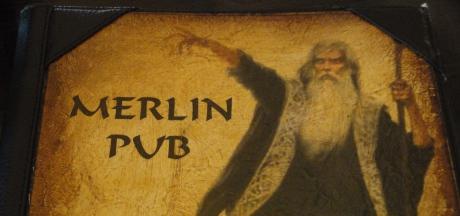 FOTO: Jídelní lístek Merlin - irish pub