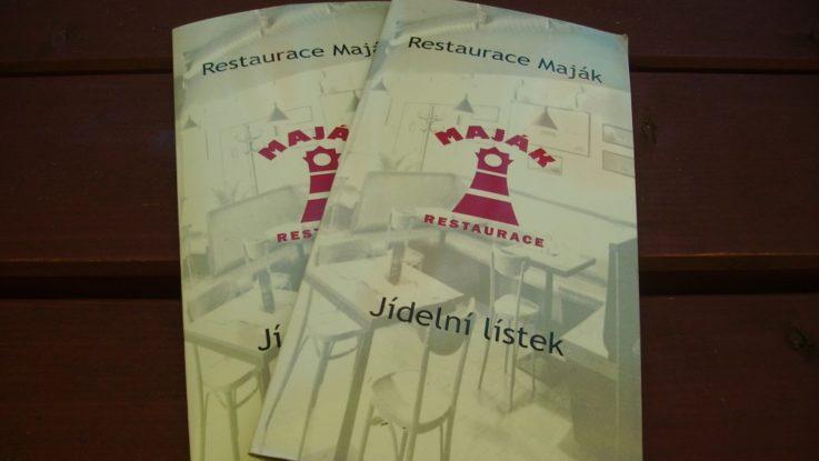 FOTO: Jídelní lístek restaurace Maják
