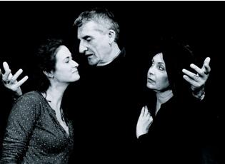 Foto: Lucie Štěpánková, Martin Huba a Ilona Svobodová ve hře Po zkoušce