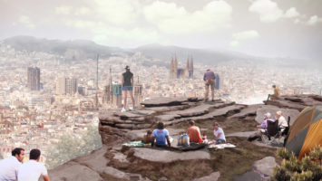 OBR: Terasa umele skalni steny v Barcelone