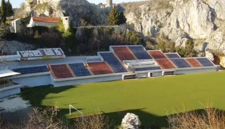 FOTO: Fotbalový stadion Gospin Dolac v Chorvatsku