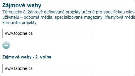 OBR: Kategorie zájmové weby v Křišťálové lupě 2011