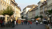 Klagenfurt - ulice s domy