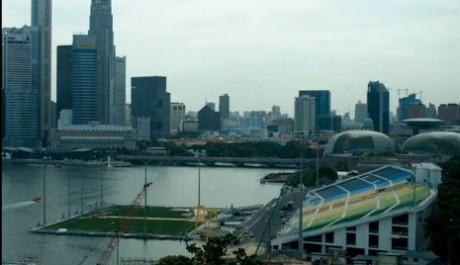FOTO: Plovoucí stadion v Singapuru