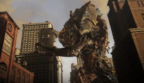 OBR.: Obří boss objímá mrakodrap