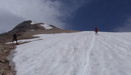 Foto:Dolomity, sníh v červenci není výjimkou