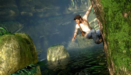 OBR.: Drake před skokem přes řeku