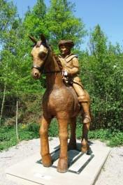 FOTO: Dřevěný kůň