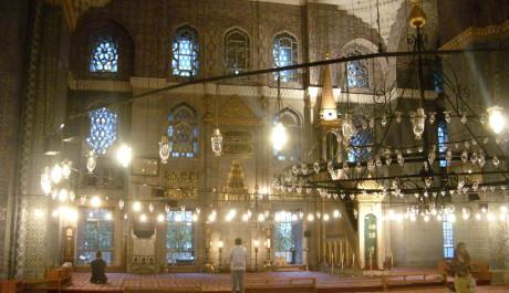 FOTO: Interiér Nové mešity v Istanbulu