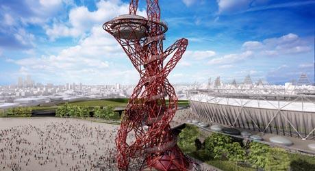 FOTO: Arcelor Mittal Orbit navržený britským architektem Anishem Kapoorem, zdroj: www.london2012.com