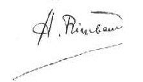 FOTO: Podpis Arthura Rimbauda