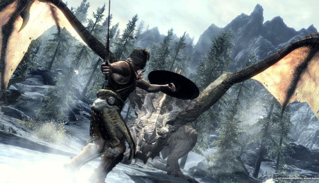 The Elder Scrolls V: Skyrim - boj s drakem