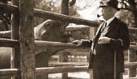 FOTO: Prof Janda se slonem Babym