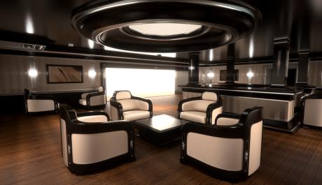 Interiér jachty Sovereign