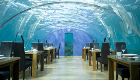 FOTO: Restaurace Ithaa na Maledivách