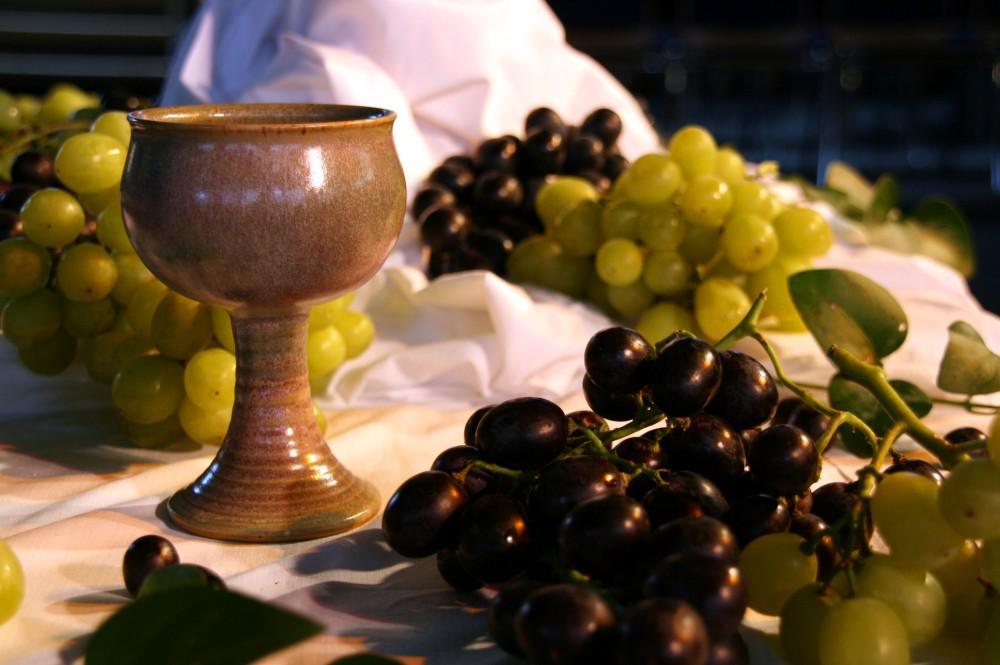 FOTO: Pohár vína a vinné hrozny