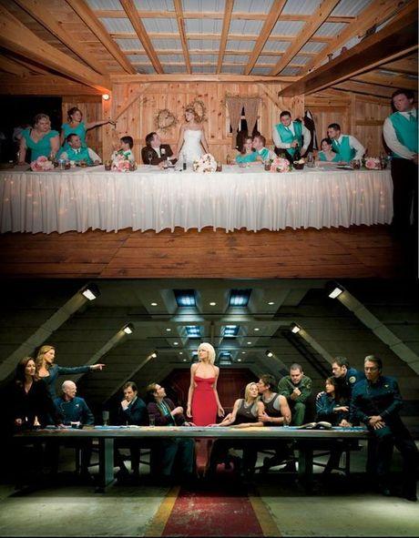 FOTO: Svatební foto fanouška seriálu Battlestar Galactica