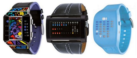 FOTO: Pánské a unisex binární hodinky