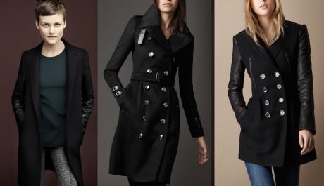 FOTO: Černé zimní kabáty 2011