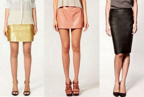 FOTO: Kožené sukně, podzim 2011