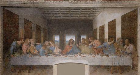 FOTO: Freska Leonarda da Vinciho s názvem Poslední večeře