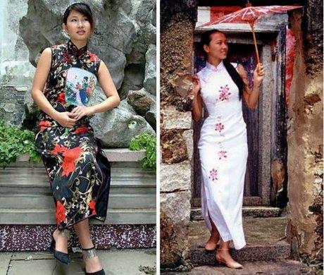 FOTO: Čínský tradiční oděv Čchi-pchao
