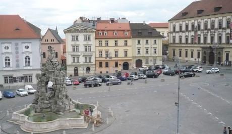 FOTO: Vylidněný Zelný trh v Brně