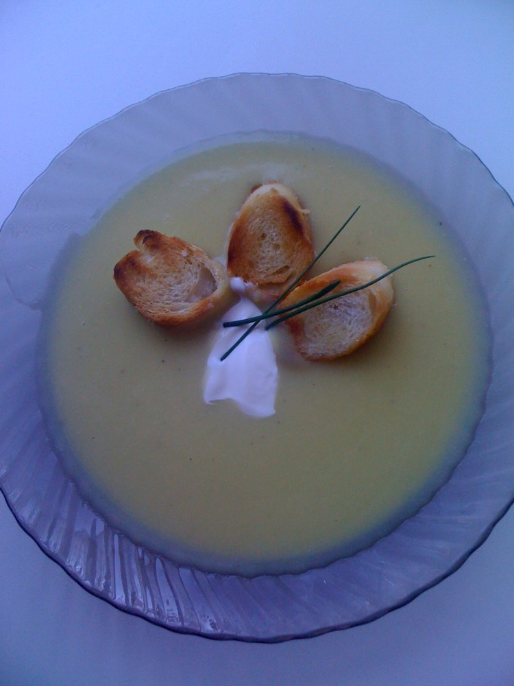 FOTO:Krémová cuketová polévka