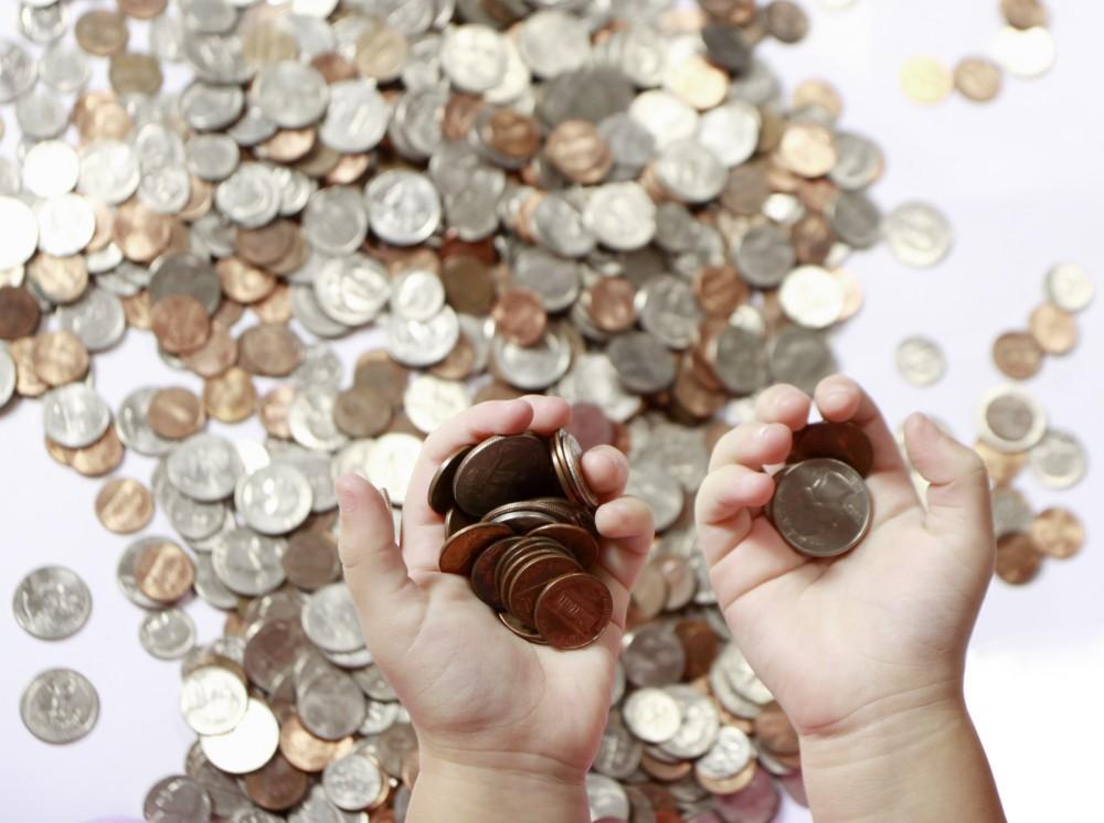 Ruce plné peněz