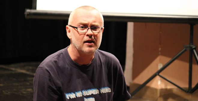 FOTO: Prof. PhDr. Petr A. Bílek, CSc. ve čtvrtek 27. října 2011 na FanCity