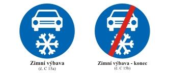 FOTO: Dopravní značka povinné zimní výbavy, Zdroj: Ministerstvo dopravy ČR