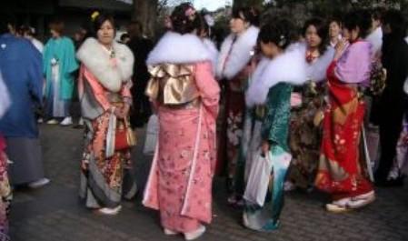 FOTO: Japonky v kimonu