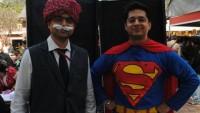 FOTO: Komiksový hrdinové Chacha Chaudhary a Superman