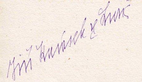 Jiří Karásek ze Lvovic - podpis