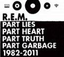 FOTO: R.E.M., přebal alba Part Lies Part Heart Part Truth Part Garbage