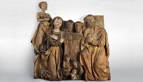 OBR: Reliéf z Třebařova u Krasíkova, 1510-15, celek po restaurování