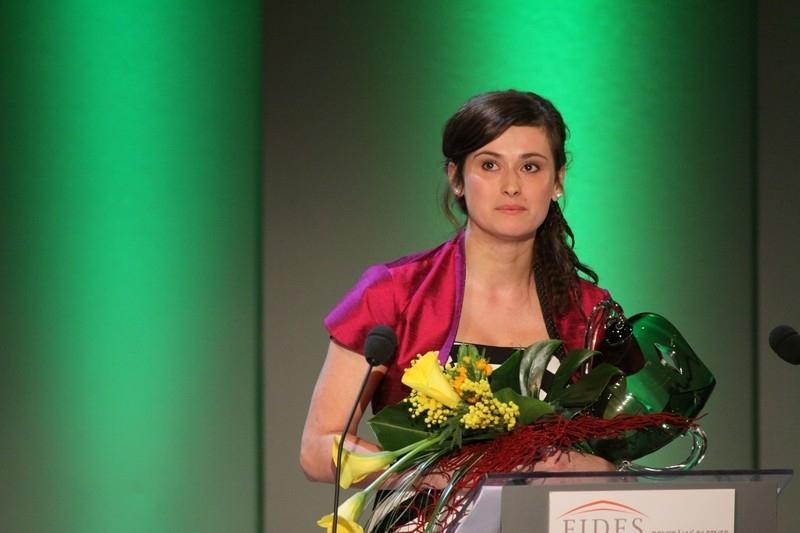Foto: Lucie Štěpánková při předávání Cen Thálie