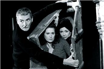 Foto: Martin Huba, Lucie Štěpánková a Ilona Svobodová v inscenaci Po zkoušce