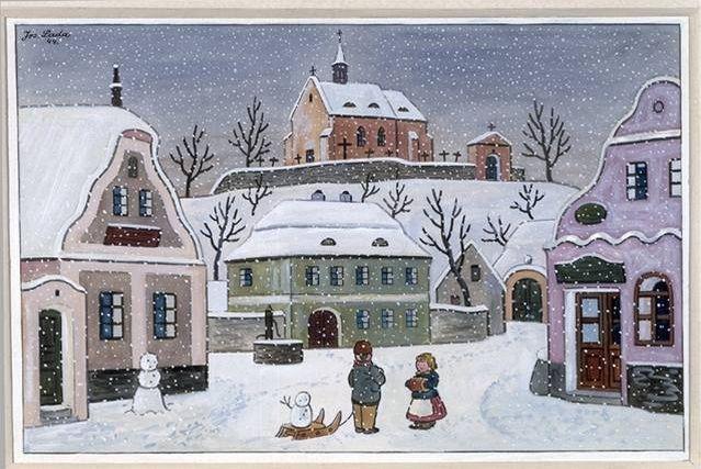 FOTO: Vánoční pohlednice Josefa Lady