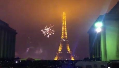 FOTO: Ohňostroj na Eiffelovce