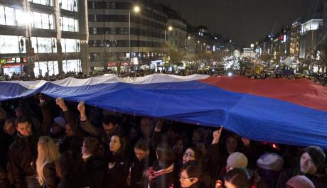 FOTO: Úmrtí Václava Havela, Václavské náměstí