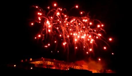 FOTO: Novoroční ohňostoj nad Špilberkem