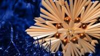 FOTO: Slaměná vánoční ozdoba