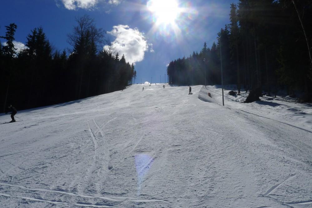 FOTO: Horský sníh je ideální pro lyžování
