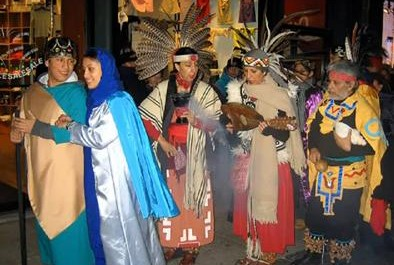 Vánoční pouť v Mexiku