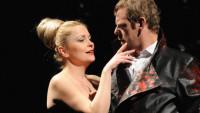 FOTO: Štěpánka Křesťanová a Martin Stránský v Shakespearově Macbethovi (DJKT, 2011)